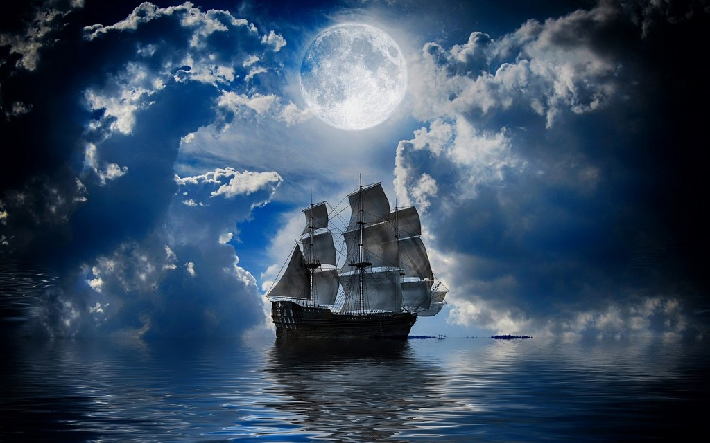 Алмазная вышивка море корабли