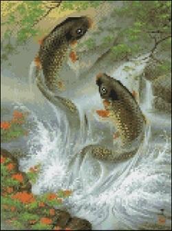 Алмазная вышивка рыбы